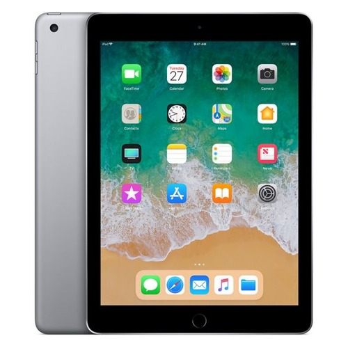 Планшет APPLE iPad 2018 128Gb Wi-Fi MR7J2RU/A, 2GB, 128GB, iOS темно-серый