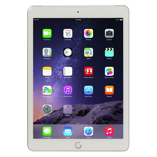 Планшет APPLE iPad 128Gb Wi-Fi + Cellular MP272RU/A, 2GB, 128GB, 3G, 4G, iOS серебристый